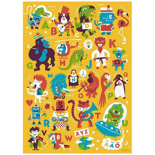 Kehvola Design / Timo Manttari [ ABC ] 50x70cm poster